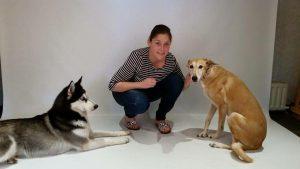 nieke met haar honden